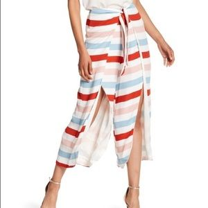 NWOT Lovers + Friends Seascape Slit Striped Pants